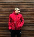 Куртка мужская зимняя красная Nike Найк (реплика), фото 3