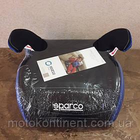 Детское Автокресло Бустер Sparco F100K Black/Blue -Италия  Для детей от 3-х до 12-ти лет