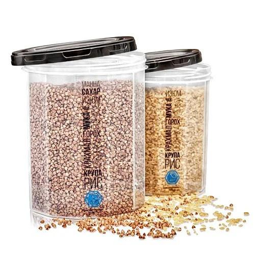 Набор ёмкостей для сыпучих продуктов — объём 1 л + 1.5 л