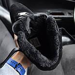 Зимние мужские кроссовки Nike Air Force черные полностью с мехом теплые 41-44рр. Живое фото. Реплика, фото 4