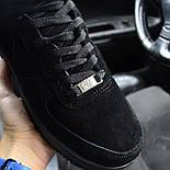 Зимние мужские кроссовки Nike Air Force черные полностью с мехом теплые 41-44рр. Живое фото. Реплика, фото 6