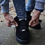 Зимние мужские кроссовки Nike Air Force черные полностью с мехом теплые 41-44рр. Живое фото. Реплика, фото 3
