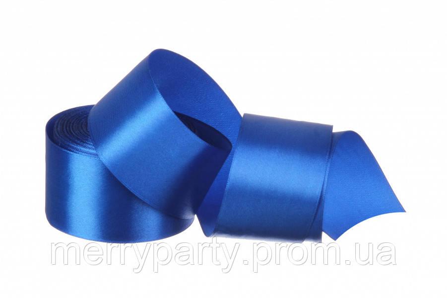 50 мм атласна стрічка синя (23 м) 40