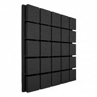 Панель из акустического поролона Ecosound Tetras Black 50x50 см, 20 мм, чёрный графит, фото 1