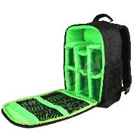 Фоторюкзак + Дождевик + Кодовый замок Indepman DL-B012 зеленый (mrk6674)
