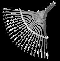 Грабли веерные, регулируемые, металлические.