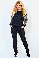 Батальный  костюм женский Ангора софт Размер 50 52 54 56 58 60 62 64 66 68 70 72 В наличии 4 цвета, фото 1