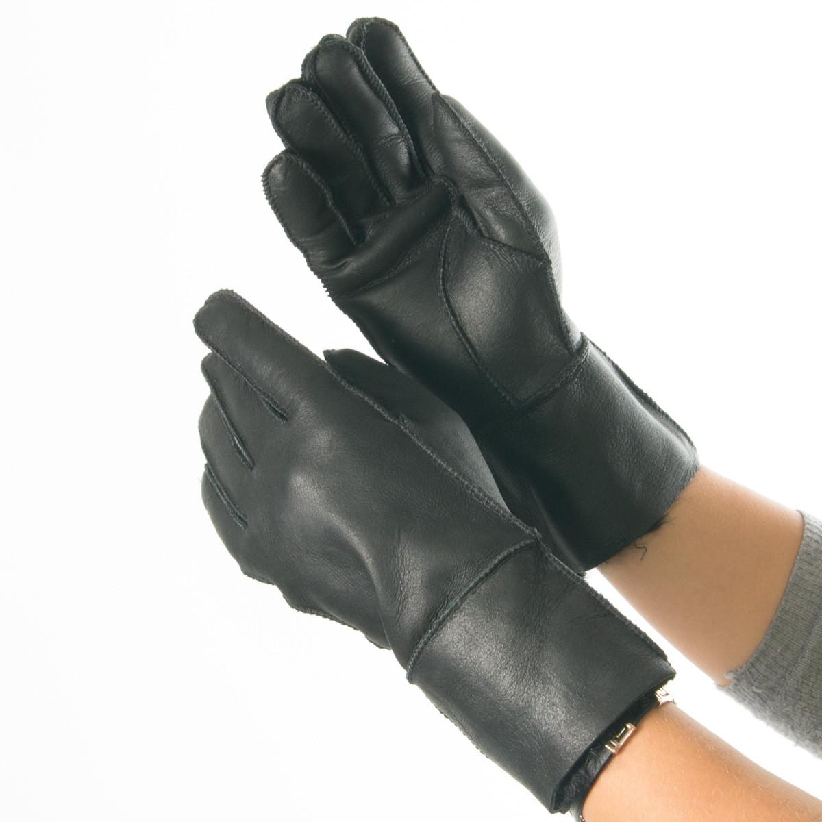 Женские зимние перчатки из натуральной кожи (S, M) №19F45