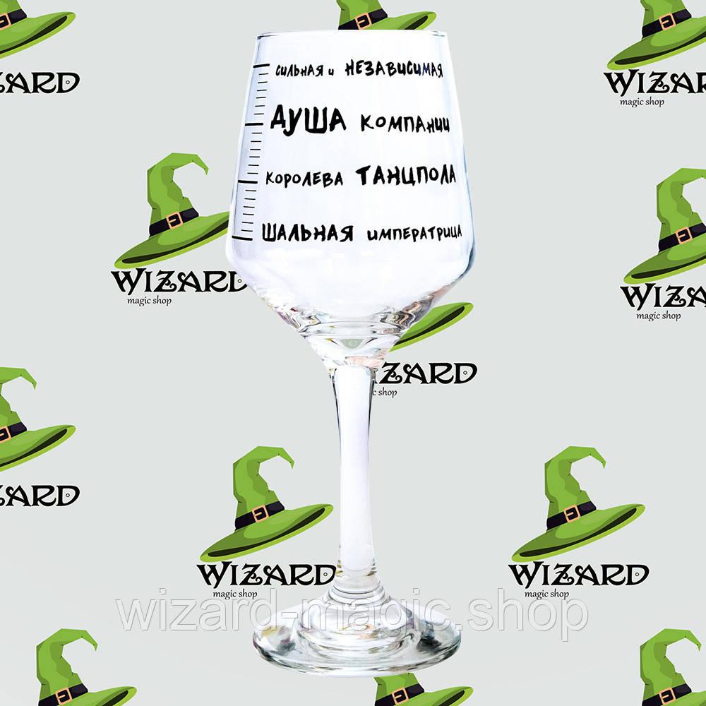 Бокал винный Шкала опьянения