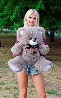 Плюшевый Мишка 70см. Все Цвета  Мишка Томми игрушка Плюшевый медведь Мягкие мишки игрушки Ведмедик (Капучино)