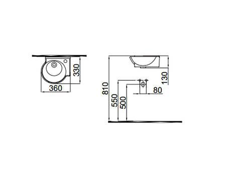 Myra Mini Умывальник 36 см левый 0201-0367 IDEVIT, фото 2