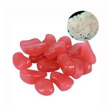 Набір люмінесцентних каменів - 10 штук в наборі (розмір одного каменю 1,5-2,5 см), рожеві