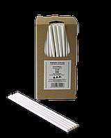 Соломинка паперова TM B.A.R. Ø 6 мм. 250 шт. Суцільно біла