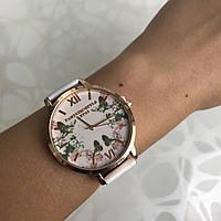 Женские наручные часы искусственная кожа Lvpai с цветами римские цифры белые