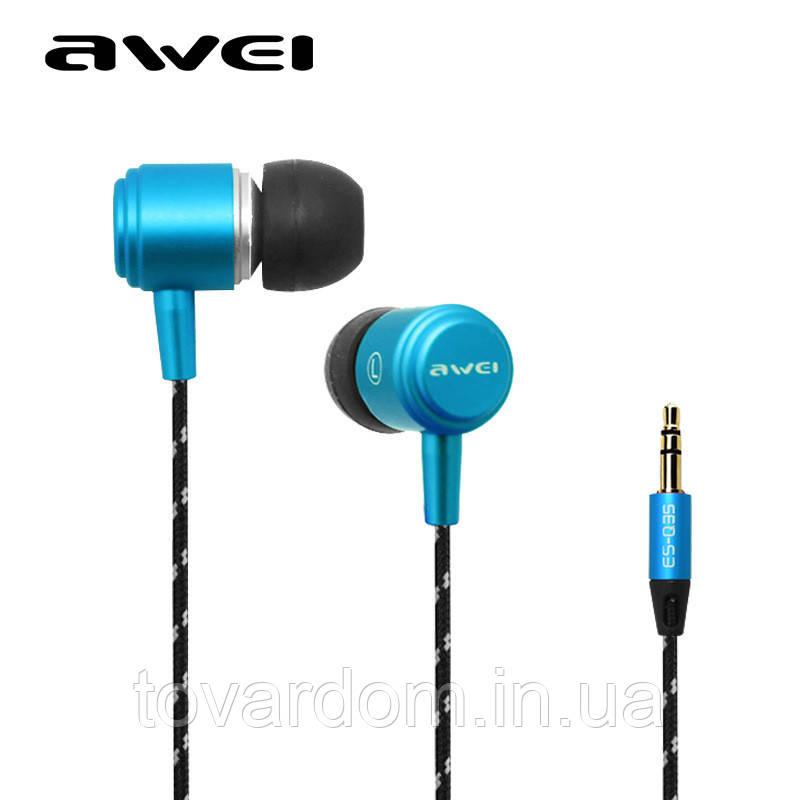 Наушники гарнитура HF MP3 AWEI ES-Q35