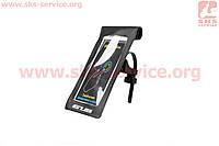 Держатель-чехол телефона 175х108мм на руль, Ziplock, сенсорная пленка, влагозащитный, быстросьемный, регулируемый, черный GUB 919