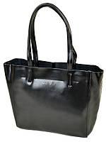Женская сумка из натуральной кожи черного цвета классика, фото 1