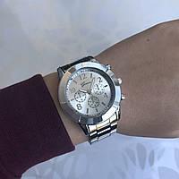 Женские наручные часы металлические Geneva серебристые