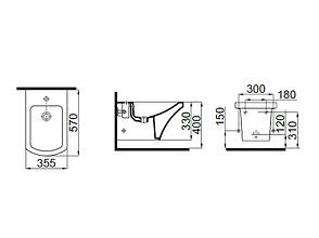 Vega Биде подвесное 2806-0305 IDEVIT, фото 2