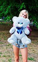 Плюшевый Мишка 70см. Все Цвета  Мишка Томми игрушка Плюшевый медведь Мягкие мишки игрушки Ведмедик (Серый)