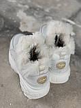 Ботинки женские зимние Buffalo London (full white), белые зимние Buffalo (Реплика ААА), фото 9