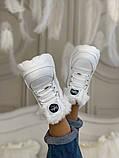 Ботинки женские зимние Buffalo London (full white), белые зимние Buffalo (Реплика ААА), фото 5