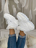 Ботинки женские зимние Buffalo London (full white), белые зимние Buffalo (Реплика ААА), фото 6