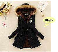 """Молодёжная куртка парка """"ARMY"""" с мехом и капюшоном-стальной и черный р.42-44.., фото 1"""