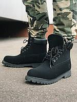 Ботинки чёрные мужские Timberland, мех.