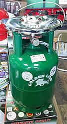 Туристичний газовий балон-пікнік Rudyy VIP посилений з пальником на 8 літрів кран - Італія