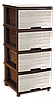 "Комод с рисунком Дерево тёмно-коричневый 4 ящика ""Алеана"" + Видео"