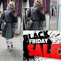 Зимнее пальто из кашемира с мехом чернобурки в наличии 44,46 размер