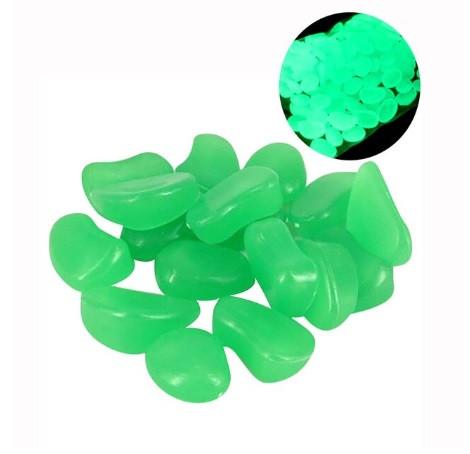 Фосфорные салатовые камни в аквариум - в наборе 10штук, (размер одного камня 1,5-2,5см)