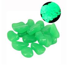 Фосфорні салатові камені в акваріум - у наборі 10штук, (розмір одного каменю 1,5-2,5 см)