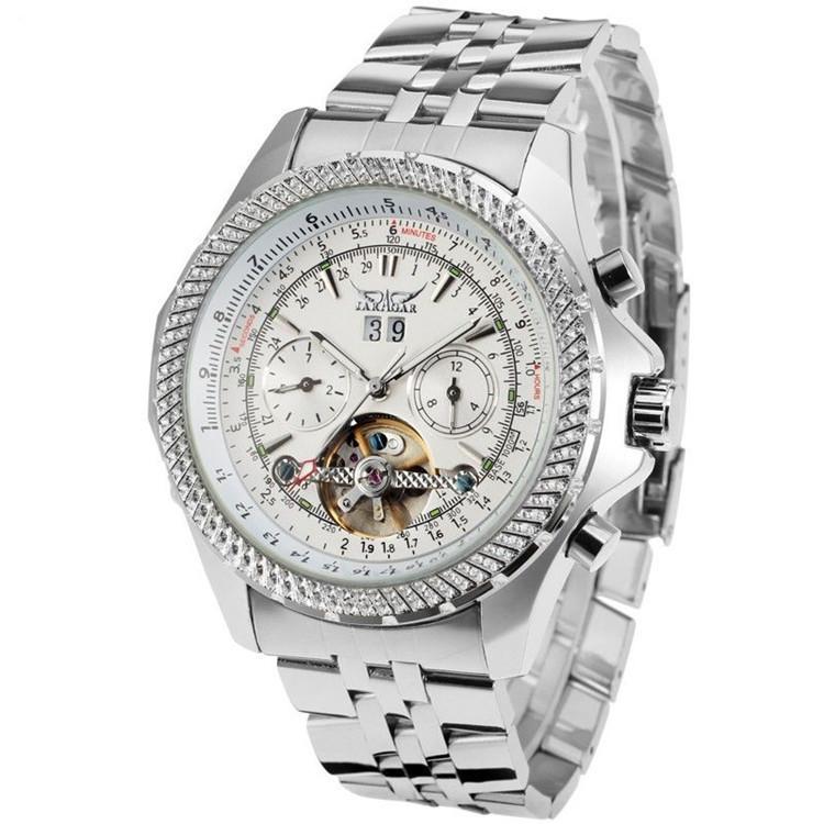 Механические часы с автоподзаводом Jaragar (silver-white)