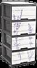 "Комод с рисунком Лаванда серый 4 ящика ""Алеана"" + Видео"