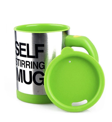 Кружка мешалка Self Stirring Mug 400 мл | Чашка-мешалка | Зеленая, фото 2