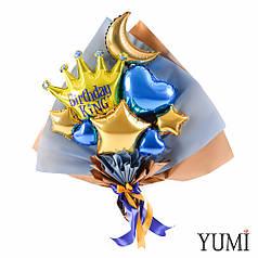 Букет из мини-фигур с короной Birthday King