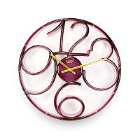 Годинник настінний Rikon 9951 Crimson