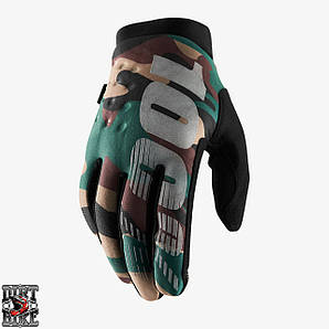 Зимние мото перчатки RIDE 100% BRISKER Cold Weather [Camo/Black]