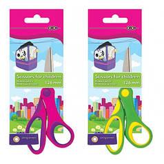 Ножницы детские ZiBi ZB5005 126мм с резиновыми вставками, ассорти