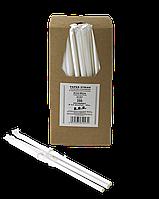 Соломинка паперова в індивід. упаковці TM B.A.R. Ø 6 мм. 200 шт. Суцільно біла