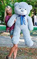Плюшевый Мишка 140см Большой Мишка Ромео игрушка Плюшевый медведь Мягкие мишки игрушки Ведмедик (Серый), фото 1