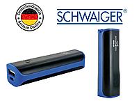 """Power Bank  """"Promotion Series"""" Schwaiger 2200 mAh легкий 70 грамм, карманный, черно синий"""