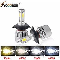 Комплект светодиодных LED лед ламп H4 (8000Lm, 8000К, 72W)