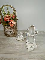 Туфли на девочку Шалунишка белые 25,29 р арт 9003.