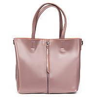 Женская сумка из натуральной кожи классика фиолетового цвета, фото 1