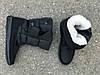 Мужские зимние дутики на липучке черные, фото 3