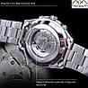 Механические часы Forsining Skeleton (silver), фото 5