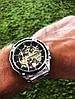 Механические часы Forsining Skeleton (silver), фото 4